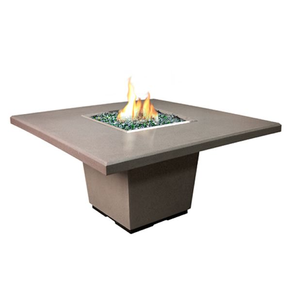 Cosmoplitan Square Outdoor Dining Gas Fire Pit Table image number 1
