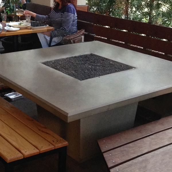Cosmoplitan Square Outdoor Dining Gas Fire Pit Table image number 0