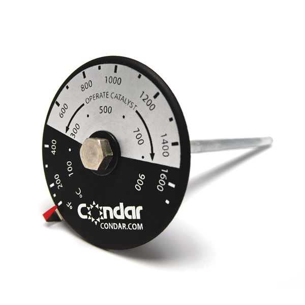 "Catalytic Thermometer - 6 1/2"" Probe with 1 1/2"" Dial image number 0"