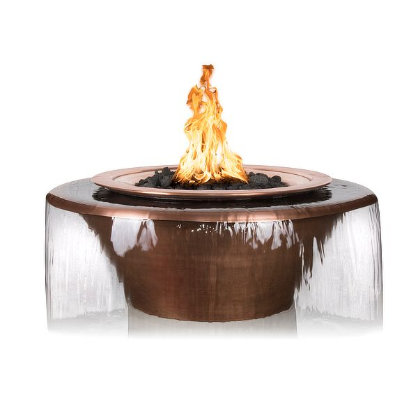 Cazo 360 Copper Fire & Water Bowl image number 0