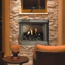 Carol Rose Traditional Gas Outdoor Fireplace