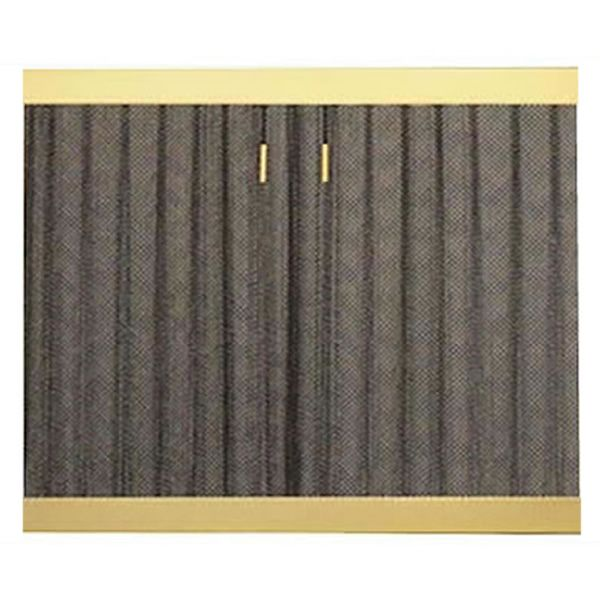 Cascade Coil Custom Mesh Hanging Fireplace Screen image number 1