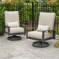 Cast Ash Lyndale Highback Swivel Rocking Chairs