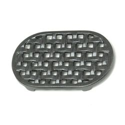 Cast Iron Oval Lattice Wood Stove Trivet