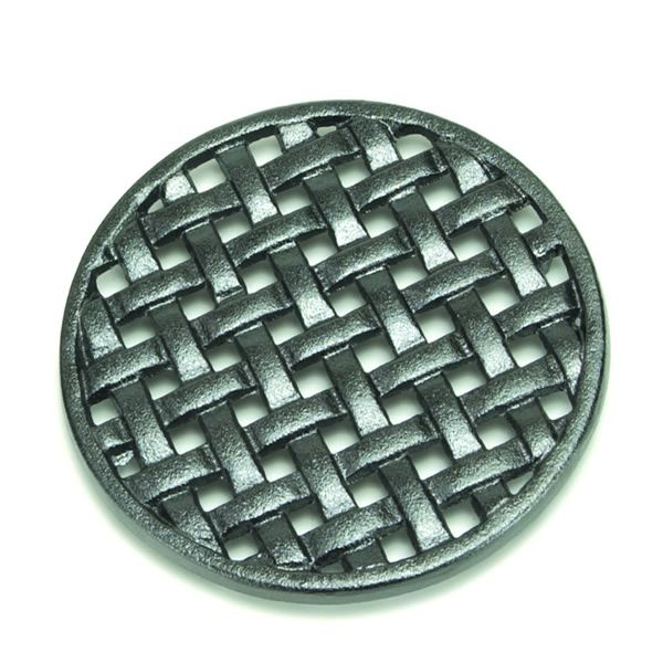 Cast Iron Round Lattice Wood Stove Trivet image number 0