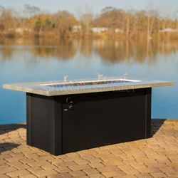 Cedar Bluff Linear Gas Fire Pit Table