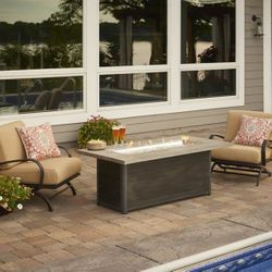 Cedar Ridge Linear Gas Fire Pit Table