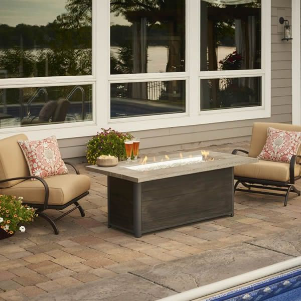 Cedar Ridge Linear Gas Fire Pit Table image number 0
