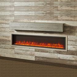 "Cedar Wash Supercast Fireplace Mantel Shelf - 72"""
