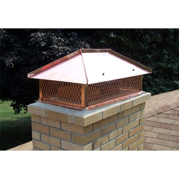 Champion Copper Multi-Flue Chimney Cap - Hip and Ridge image number 2