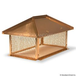 Champion Copper Multi-Flue Chimney Cap - Hip and Ridge