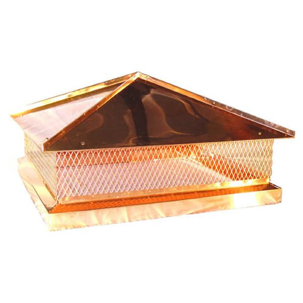 Custom Copper Hip Lid Chimney Cap image number 0