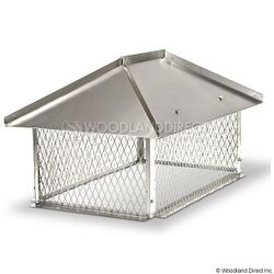 Champion Stainless Steel Multi-Flue Chimney Cap - Hip and Ridge