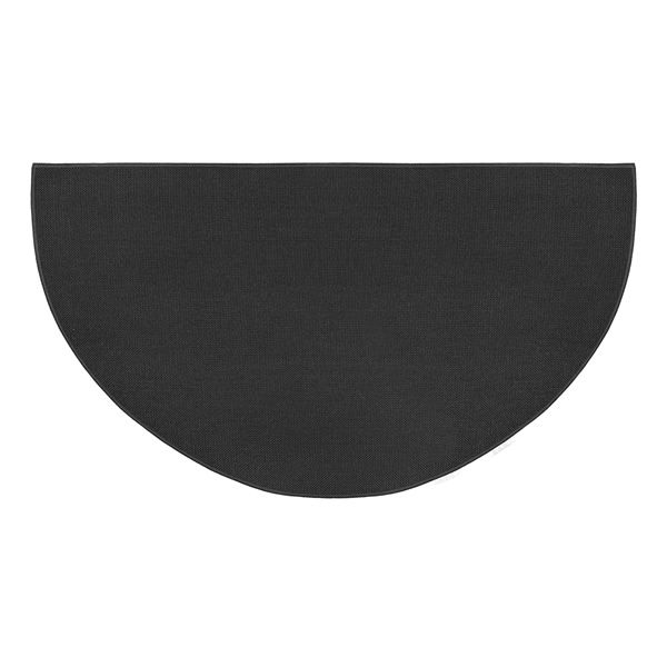 Charcoal Guardian Half Round Fiberglass Hearth Rug - 4' or 5' image number 0