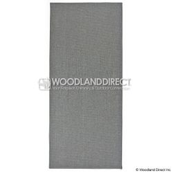 Charcoal Guardian Rectangular Fireplace Hearth Rug