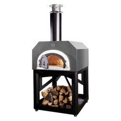 Chicago Brick Oven 750 Pizza Oven Cart Model - Silver