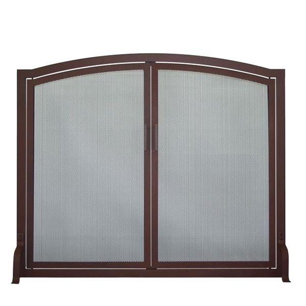 Classic Arched Fireplace Screen with Doors image number 0