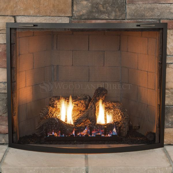 Classic Bowed Fireplace Screen image number 1