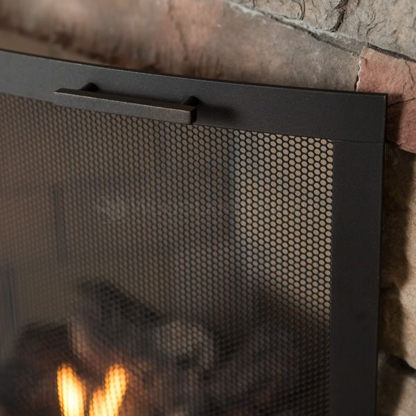 Classic Bowed Fireplace Screen image number 2