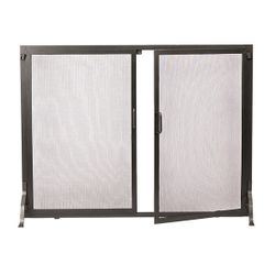 "Classic Fireplace Screen w/Doors - 38"" x 30"""