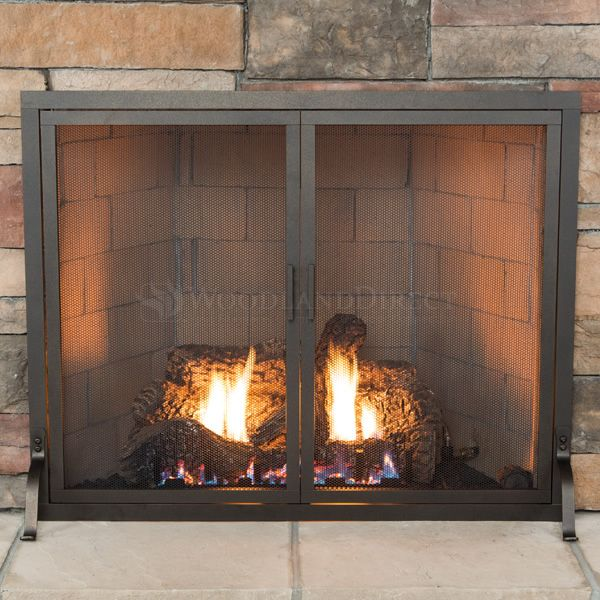 Classic Fireplace Screen with Doors image number 1