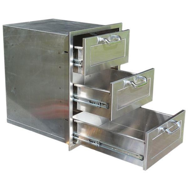 "Classic Panel Series Triple Drawer Storage - 17"" x 24"" image number 1"