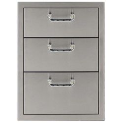 "Classic Series Triple Drawer Storage - 17"" x 24"""