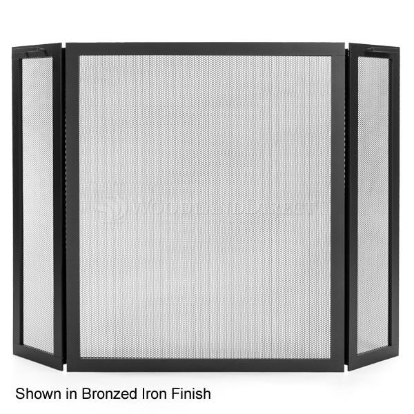 Classic Three Panel Fireplace Screen image number 0