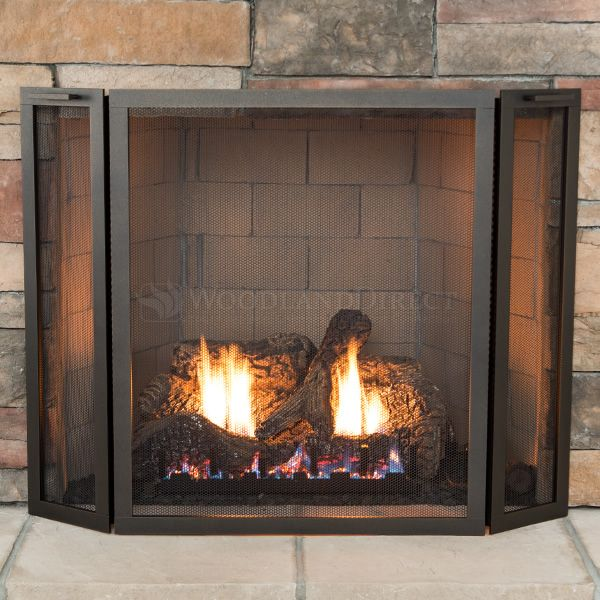 Classic Three Panel Fireplace Screen image number 1