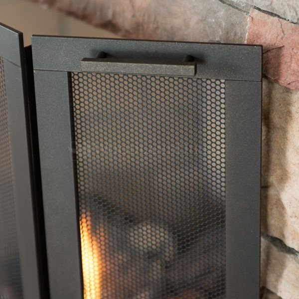 Classic Three Panel Fireplace Screen image number 2