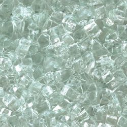 "Clear - 1/4"" Fire Glass- 10 lbs."