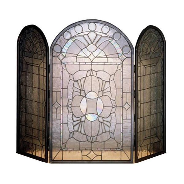 Meyda Tiffany Clear Beveled Fireplace Screen image number 0