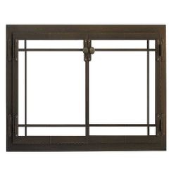 Craftsman Masonry Fireplace Glass Door