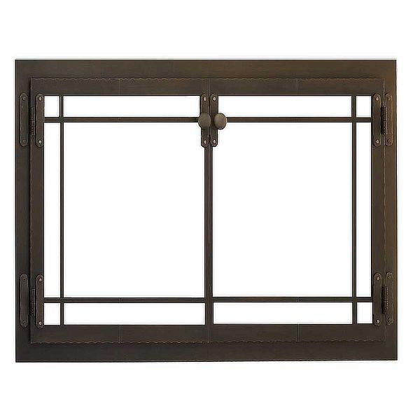 Craftsman Masonry Fireplace Glass Door image number 0