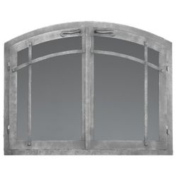 Craftsman Arched Masonry Fireplace Doors