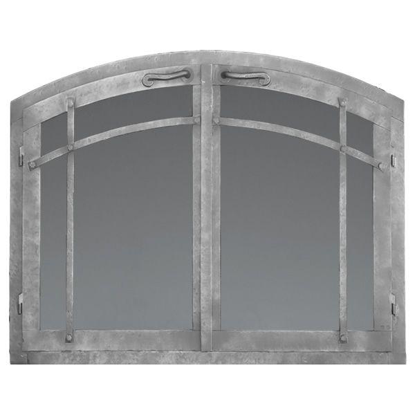 Craftsman Arched Masonry Fireplace Doors image number 0