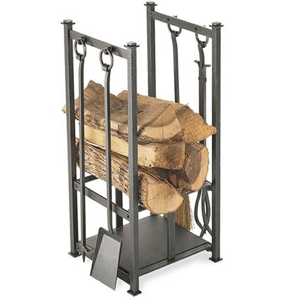 Craftsman Indoor Firewood Rack - Vintage Iron image number 0
