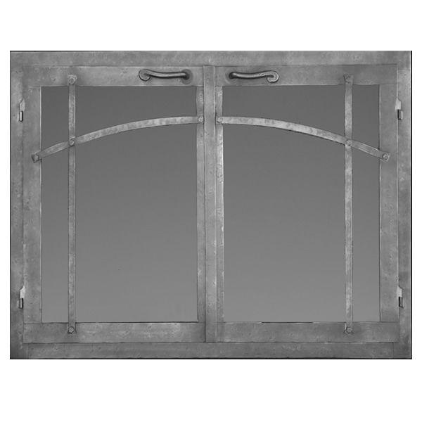 Craftsman Rectangular Masonry Fireplace Doors image number 0