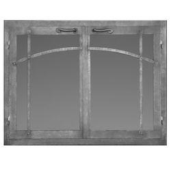 Craftsman Rectangular Masonry Fireplace Doors