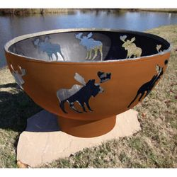 Moose Wood Burning Fire Pit