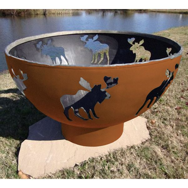 Moose Gas Fire Pit image number 0