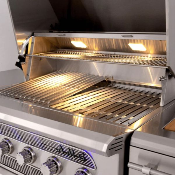 "American Made Grills Built-In Muscle Hybrid Gas Grill -36"" image number 1"