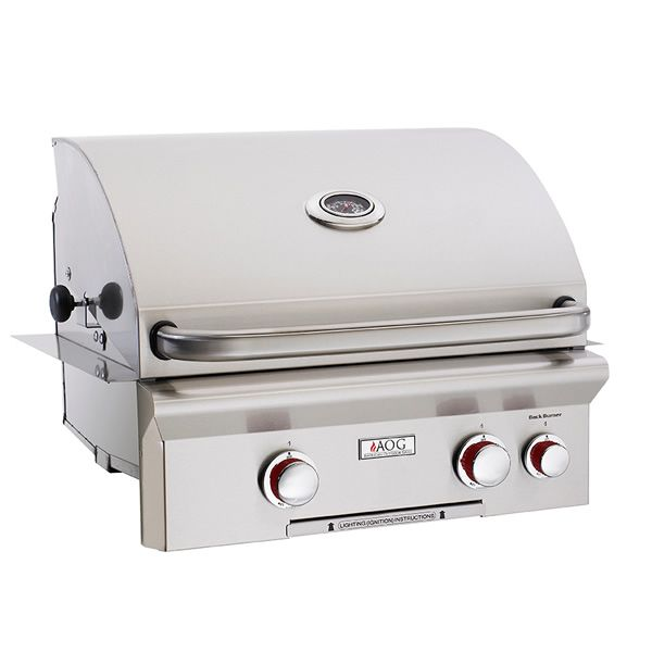"""AOG T-Series Built-In Gas Grill with Rotisserie - 24"""" image number 0"""