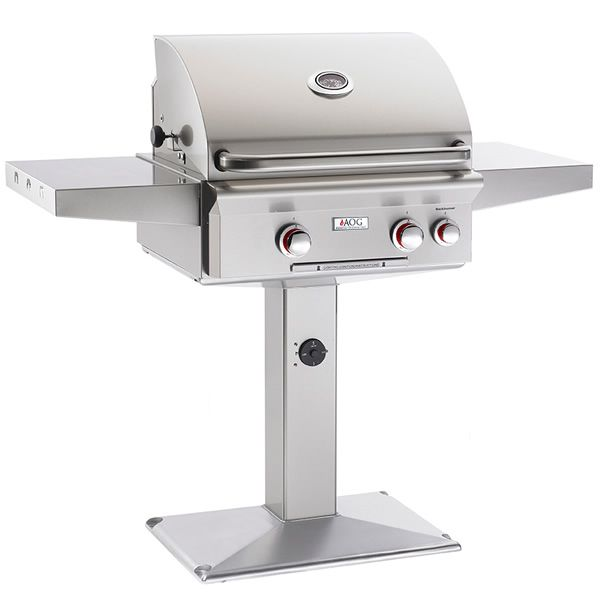 """AOG T-Series Patio Post Mount Gas Grill - 24"""" image number 0"""