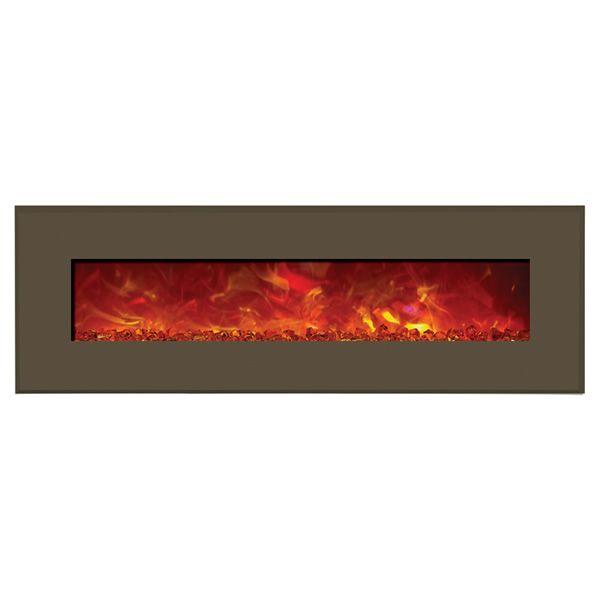 "Amantii Advanced 58"" Electric Fireplace - Modern Auburn Steel image number 0"