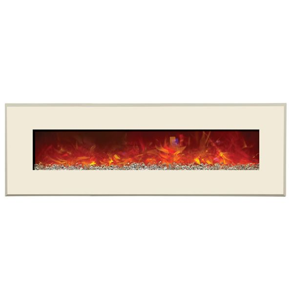 "Amantii Advanced 58"" Electric Fireplace - Gallery White image number 0"