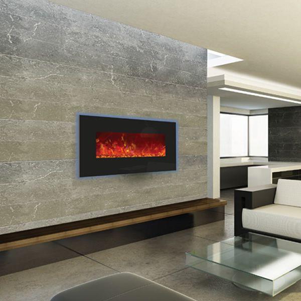 """Amantii Enhanced 34"""" Electric Fireplace - Black image number 3"""