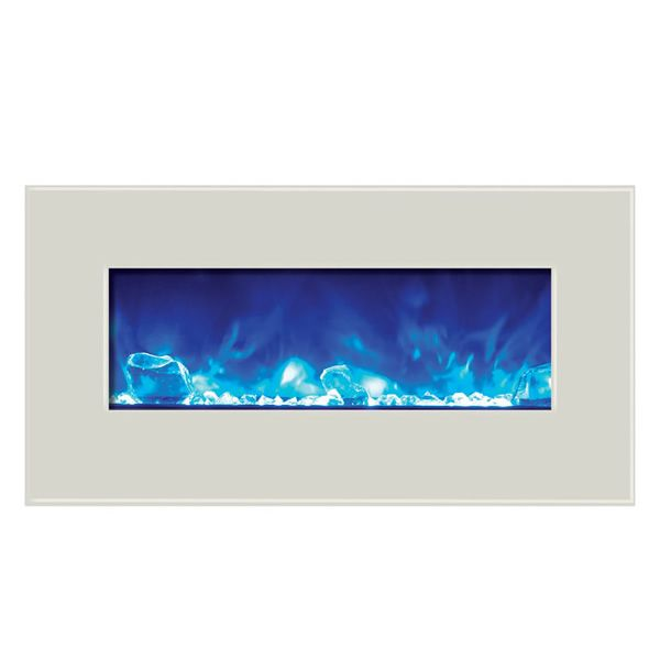 "Amantii Advanced 34"" Electric Fireplace - White image number 1"