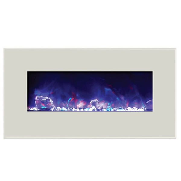 "Amantii Advanced 34"" Electric Fireplace - White image number 2"