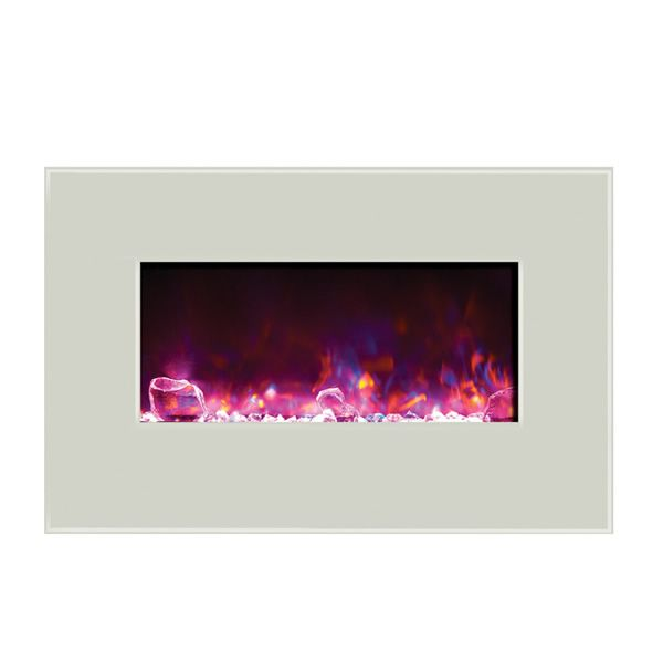 "Amantii Advanced 34"" Electric Fireplace - White image number 4"